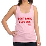 Dont Panic Racerback Tank Top