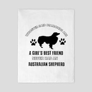 Australian Shepherd Mommy designs Twin Duvet