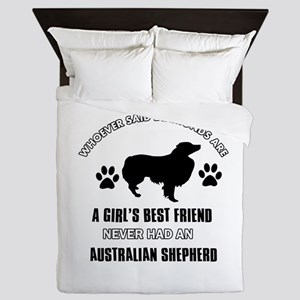 Australian Shepherd Mommy designs Queen Duvet