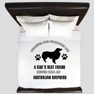 Australian Shepherd Mommy designs King Duvet