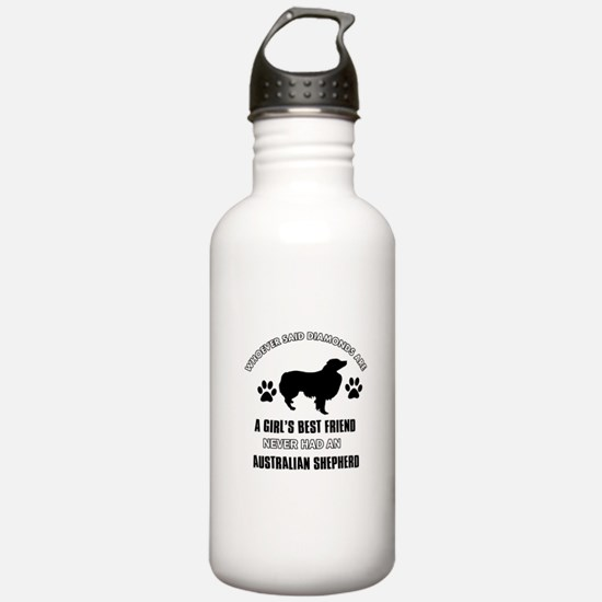 Australian Shepherd Mommy designs Water Bottle