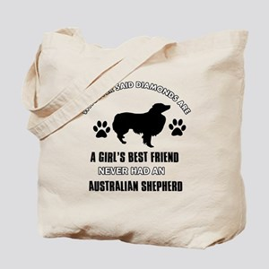 Australian Shepherd Mommy designs Tote Bag