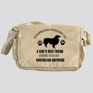 Australian Shepherd Mommy designs Messenger Bag
