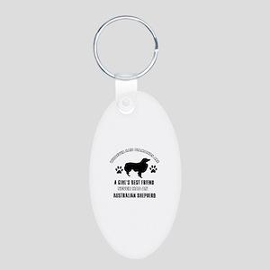 Australian Shepherd Mommy designs Aluminum Oval Ke