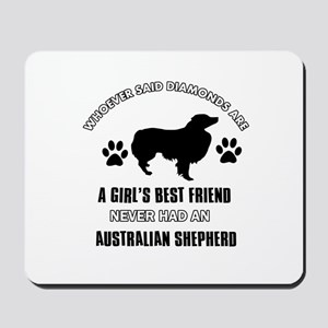 Australian Shepherd Mommy designs Mousepad