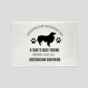 Australian Shepherd Mommy designs Rectangle Magnet