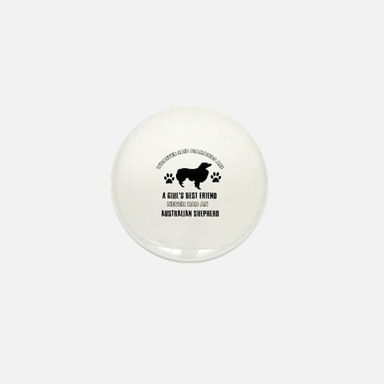 Australian Shepherd Mommy designs Mini Button