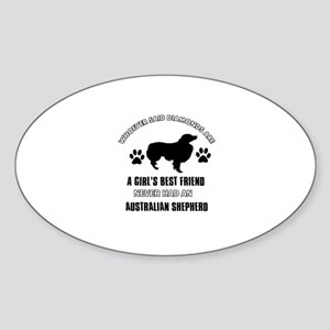 Australian Shepherd Mommy designs Sticker (Oval)