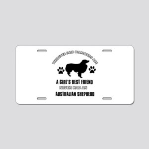 Australian Shepherd Mommy designs Aluminum License