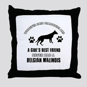 Belgian Malinois Mommy designs Throw Pillow