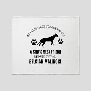 Belgian Malinois Mommy designs Throw Blanket