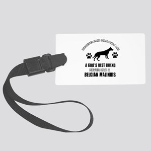 Belgian Malinois Mommy designs Large Luggage Tag