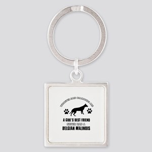 Belgian Malinois Mommy designs Square Keychain
