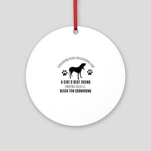 Black Tan Coonhound Mommy designs Ornament (Round)