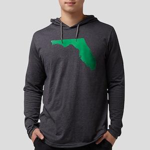 Florida State Shape Outline Mens Hooded Shirt