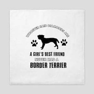 Border Terrier Mommy designs Queen Duvet