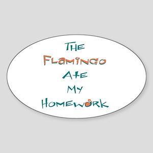 Homework Excuse Oval Sticker