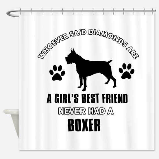 Boxer Mommy designs Shower Curtain