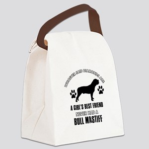 Bull Mastif Mommy designs Canvas Lunch Bag