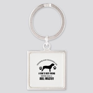 Bull Mastif Mommy designs Square Keychain