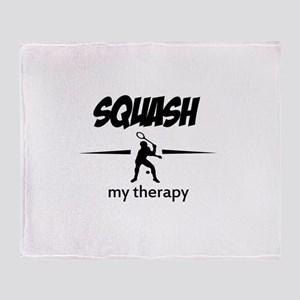 Squash my therapy Throw Blanket
