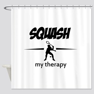 Squash my therapy Shower Curtain