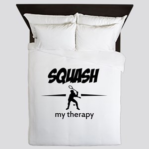 Squash my therapy Queen Duvet