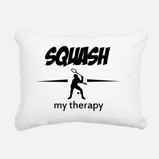 Squash my therapy Rectangular Canvas Pillow