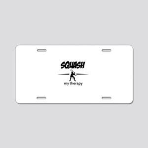Squash my therapy Aluminum License Plate