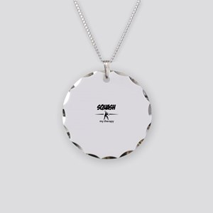Squash my therapy Necklace Circle Charm