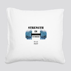 805 Ride or Die Square Canvas Pillow
