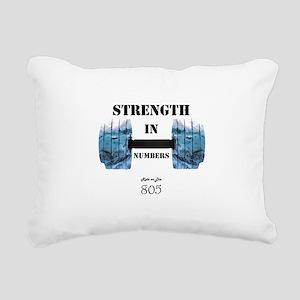 805 Ride or Die Rectangular Canvas Pillow