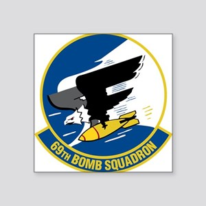 "69th Bomb Squadron Square Sticker 3"" x 3"""