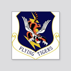 "23rd FW Flying Tigers Square Sticker 3"" x 3"""