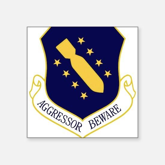 44th Bomb Wing - Aggressor Beware - Blue Sticker