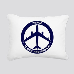 B-47E Peace Sign Rectangular Canvas Pillow
