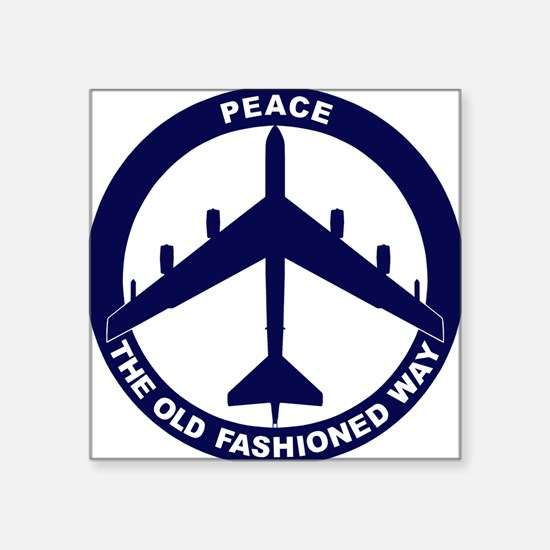 "B-52G Peace Sign Square Sticker 3"" x 3"""