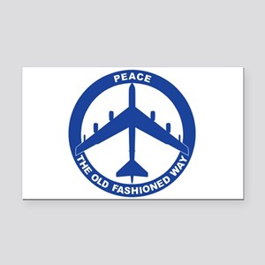 B-52G Peace Sign Rectangle Car Magnet