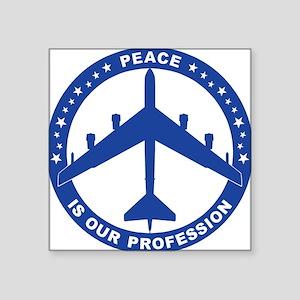 "B-52H Peace Sign Square Sticker 3"" x 3"""