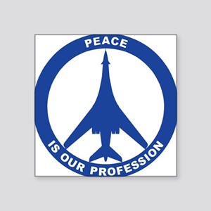 "B-1B Peace Sign Square Sticker 3"" x 3"""