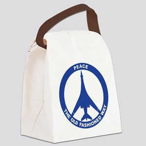 B-1B - Peace The Old Fashioned Way Canvas Lunch Ba