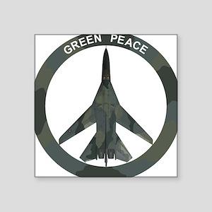 """FB-111 Green Peace Square Sticker 3"""" x 3"""""""