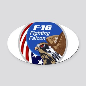 F-16 Falcon Oval Car Magnet