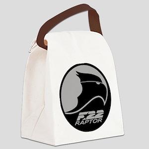 F-22 Raptor - Grey Canvas Lunch Bag