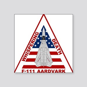 F-111 Aardvark - Whispering Death Square Sticker 3