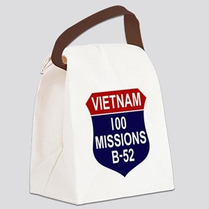Vietnam - 100 Missions B-52 Canvas Lunch Bag