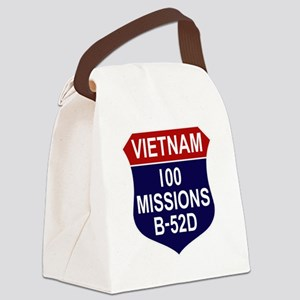 100 MISSIONS - B-52D Canvas Lunch Bag