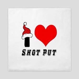I Love Shot Put Queen Duvet