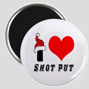 I Love Shot Put Magnet