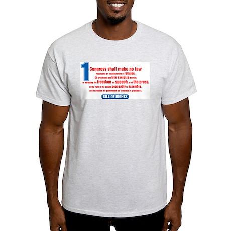 1st Amendment Ash Grey T-Shirt